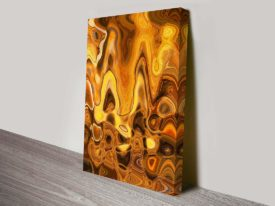Burnt Composition Abstract Wall canvas