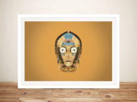 C-3PO Head Art Framed Wall Art