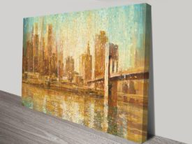 Champagne City Crop on Canvas Print Arts Online Gallery