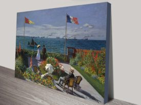 Garden At Sainte Adresse, Monet Classical Art Print