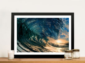 Crystal Waves Surfing Art Canvas Print
