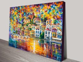 Dream Harbour leonid afremov canvas print