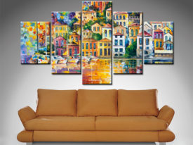 dream harbor 5 panel wall art canvas print