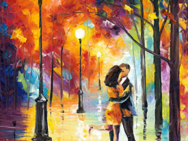 Dancing in the Rain Leonid Afremov Print