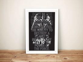 Darth Vader-Quote Framed Wall Art Australia