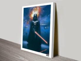 Darth Vader Battlescape Star Wars Canvas Print