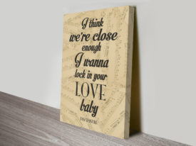 Disclosure Latch Lyrics Word Art Canvas Print