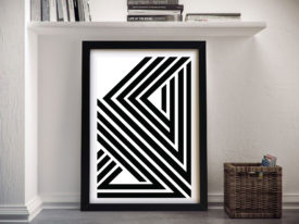 Divergent lineation Framed Wall Art