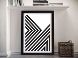 Divergent lineation Abstract Framed Wall Art