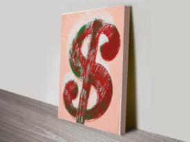 Dollar Sign By Andy Warhol Vintage Pop Art