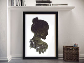 Double Exposure Humanity Framed Wall Art
