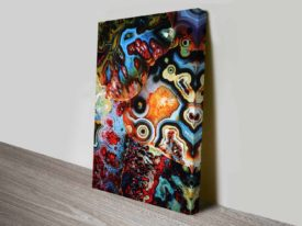 metamorphic earth layers colourful print on canvas