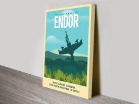 Endor Travel Star Wars Poster Print