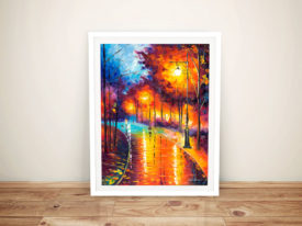 Falling Night Framed Wall Art