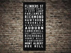 Flinders St Box Hill Tram Scroll