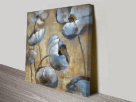 Flowers in Dusk I Wall Art Print on Canvas