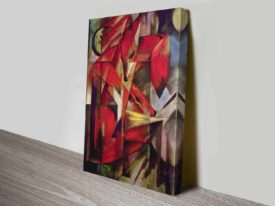Foxes by Franz Marc Wildlife Expressionist Cubist Ready to Hang Wall Art