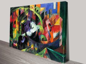 Abstract with cattle Classical Art Print