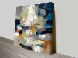Full Moon II with White Abstract Wall Art
