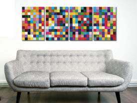 1024 Colours Four Panel Iconic Art on Captured on Canvas