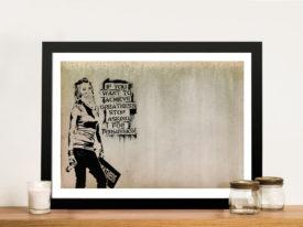 Graffiti Banksy Greatness Achievements Framed Wall Art