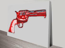 Gun Pop Art By Andy Warhol Vintage