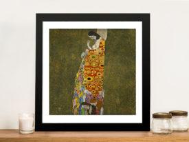 Fine Art Print of Hope II by Gustav Klimt Wall Art