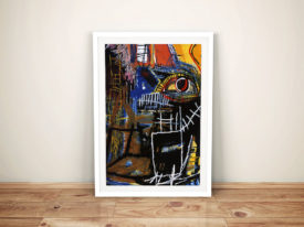 Head Jean Michel Basquiat Framed Wall Art Print