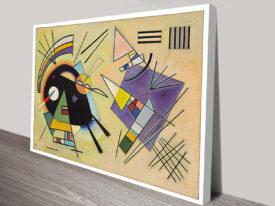 Kandinsky Black And Violet Abstract Wall Art Print