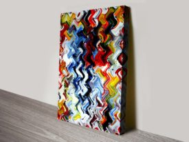 Kinetic spirit abstract wall art print