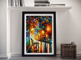 LONELINESS OF AUTUMN Afremov Framed Wall Art
