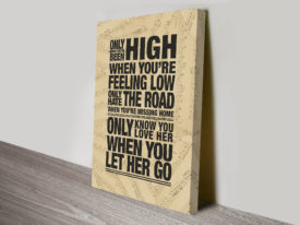 Passenger Lyrics Art Canvas Print