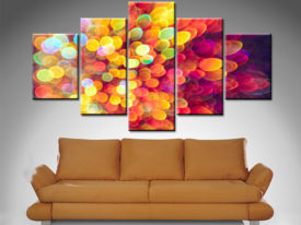 Elena Kulikova Light & Shimmer Burst 5 Panel Canvas