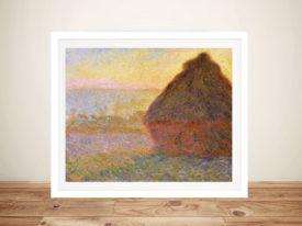Monet Graystacks Framed Wall Art Print