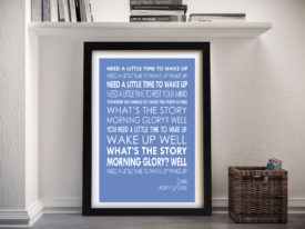 (What's the Story) Morning Glory Oasis Song Lyrics Music Word Art