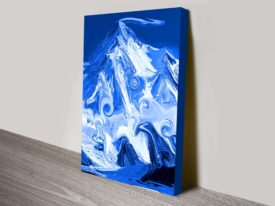 Mountain In Abstract Canvas Wall Art