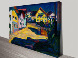 Murnau Burggrabenstrasse 1 Abstract Print by Wassily Kandinsky