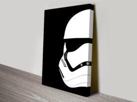New Storm Trooper Helmet Star Wars Art Canvas