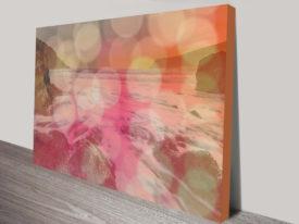 abstract ocean canvas print