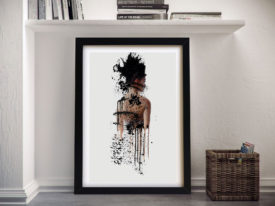 Buy Painted Women Abstract Canvas Wall Art