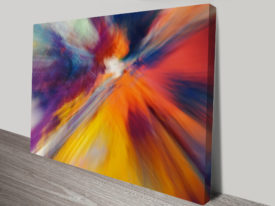 Painted Motion Sm Abstract Wall Art Print