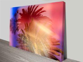 Palm Tree Lovers Artwork Photo On Canvas Print Wall Art