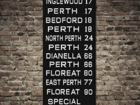 Perth Vintage Tram Scroll
