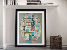 Composition in Oval with Color Planes I Piet Mondrian Wall Art