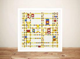 Piet Mondrian Broadway Boogie Woogie Framed Wall Art