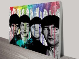 Pop Art Beatles Wall canvas