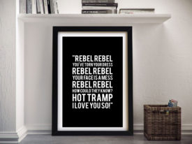 Rebel Rebel by Davie Bowie Framed Wall Artwork
