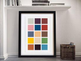 Gerhard Richter Fünfzehn Farben Fifteen Colours Framed Wall Art