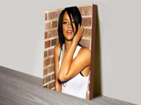 Rihanna music canvas print.