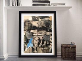 Scanning Robert Rauschenberg Framed Wall Art Print